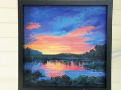 Sunset Marsh by DreamyImpressions on Etsy