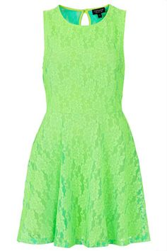 Fluorescent Lace Flippy Tunic