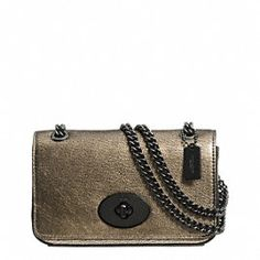 MINI CHAIN CROSSBODY IN METALLIC LEATHER Bolsos 71eb41ef0d9