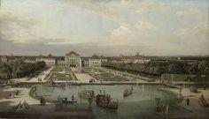 bernardo bellotto, il palazzo di nymphenburg dal parco, 1761