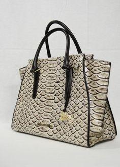 NWT! Brahmin Priscilla Leather Satchel / Shoulder Bag in Pearl Dogwood #Brahmin #SatchelShoulderbag