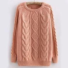 Women's Pullover Cable Knit Sweaters -
