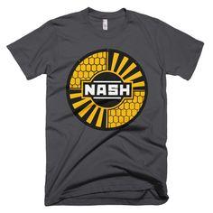 Vintage Nash Motors Sign Rambler Unisex Mens or Womens Tee Short sleeve men's t-shirt Yellow & Black Automobile Automotive Design