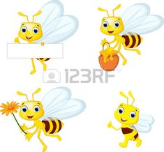 Illustration of Cute bee cartoon flying while carrying flowers vector art, clipart and stock vectors. Bee Drawing, Cute Bee, Music Files, Sunday School, Tweety, Vector Art, Pikachu, Clip Art, Stock Photos