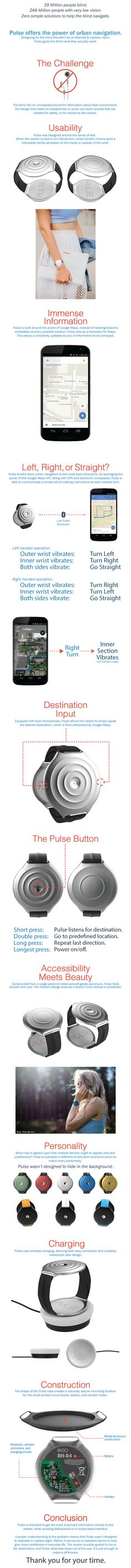 Pulse: Navigation for the Visually Impaired. on Behance