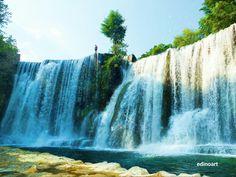 Waterfall Pliva Jajce Bosnia and Herzegovina Fuji SX1