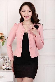 New 2017 feminino spring OL summer style slim female coat short woman clothes jackets suits Outdwear coat women plus size