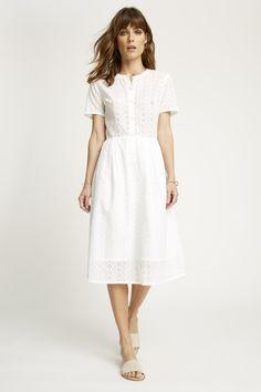 Nidia Broderie Shirt - White