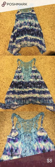 Lace back detail tank top Lace back detail tank top. Size M Tops Tank Tops