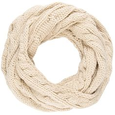 Anna Field Snood ($20) ❤ liked on Polyvore featuring accessories, scarves, beige and snood scarves