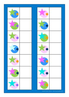 Board for the matching game. Find the belonging tiles on Autismespektrum on… Daily Activities, Book Activities, Toddler Activities, Visual Perception Activities, Vision Therapy, Task Boxes, Matching Games, Pre School, Games For Kids