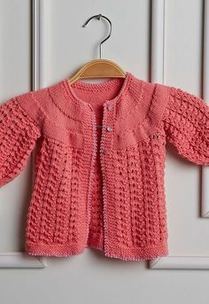 Baby Knitting, Crochet Baby, Knit Crochet, Gilet Rose, Handicraft, Crochet Patterns, Sewing, Sweaters, Clothes
