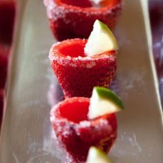 Strawberry Margarita Jello Shots