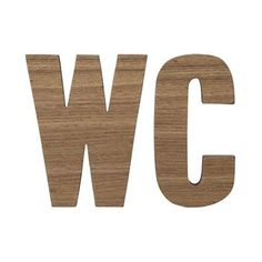 Bloomingville wooden letters WC 2-pack - nature - Bloomingville Hall  Colour 464e25f1d6abb