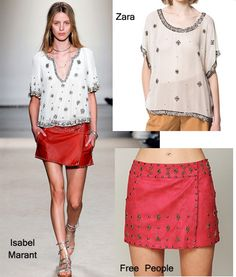 Isabel Marant vs Zara vs Free People