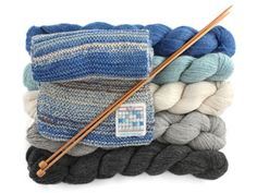 Knit The Sky -- Wonderfully creative knitting projects and yarn kits from Leafcutter Designs. Knitting Kits, Knitting Patterns Free, Knitting Yarn, Free Knitting, Knitting Projects, Crochet Patterns, Simply Knitting, Diy Scarf, Scarf Knit