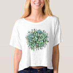 (Succulent love t-shirt) #Circle #Design #Drawing #Female #Graphics #Green #Plant #Succulent #Tender #Watercolor is available on Funny T-shirts Clothing Store   http://ift.tt/2cfIF1Z