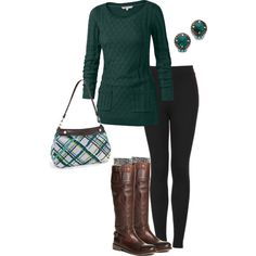 Love the sweater and tights..