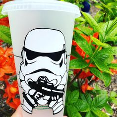 Happy Star Wars Land opening day at Disney World! Pick up your own Stormtrooper Starbucks tumbler just in time for Galaxy's Edge!