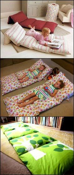 If you have extra pillows in your home, you can turn them into a small bed for the kids while watching TV or reading a book. http://theownerbuildernetwork.co/zfa6 Got some extra pillows?