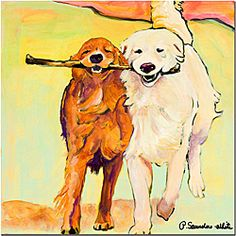 Artist: Pat Sanders-WhiteTitle: Stick With Me Product Type: Gallery-wrapped canvas art
