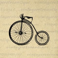 Antique High Wheel Bicycle Printable Digital Download Illustration Image Graphic Vintage Clip Art. High quality digital graphic from antique artwork for printing, transfers, papercrafts, t-shirts, tea towels, and many other uses. Great for etsy products. This image is high quality at 8½ x 11 inches large. Transparent background version included with every graphic.