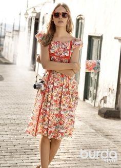 Платье с мини-рукавами реглан: Burda 5/ 2015/ 104 А / Burdastyle