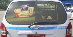 """O guaraná Kuat está em campanha o Juntamente com McDonald's Para divulgar o novo brinde da McOferta, O DVD """"Crepúsculo"""".  Um total de 120 táxis do aeroporto de Guarulhos estão divulgando o combo nos vidros traseiros.      A ação Protaxi e Media Plus permanecera nas ruas durante todo o mês de março. #mcdonalds"""