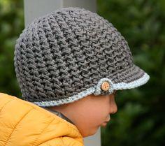 gehäkelte Mütze für Jungen