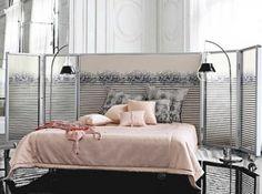 idées pour faire soi-même sa tête de lit DIY roche bobois x jean paul gaulthier chamber lit tete de lit en paravent
