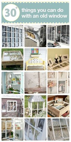 I just can't drive by old windows that people discard on the curb. #30 DIY:: Old Window Projects