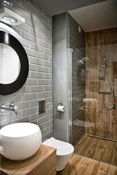Modern Bathroom Ideas for Small Bathrooms Elegant Walk In Shower In A Small Bathroom – Design Ideas for Bathroom Toilets, Basement Bathroom, Bathroom Interior, Bathroom Modern, Masculine Bathroom, Bathroom Layout, Bathroom Faucets, Bathroom Storage, Bathroom Black