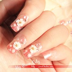 Aliexpress.com : Buy Beautiful bride 2.24 paragraph of finger 2 gentle flower ! false nail patch nail art from Reliable gel nail suppliers on Jessie's shop. $5.93