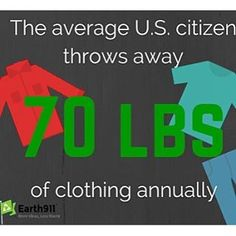 This number is way too high. Surely we could do a better job of donating our clothing for others to use.