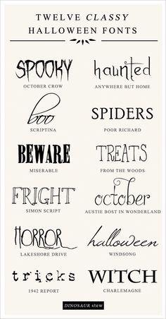twelve classy & free halloween fonts. i'm looking at you @nrsenell and @jillslivingroom