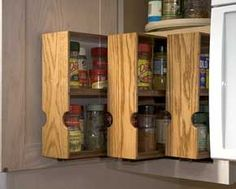 The RunnerDuck Spice Rack plan, is step by step instructions on how to build a Spice Rack for a kitchen cupboard.