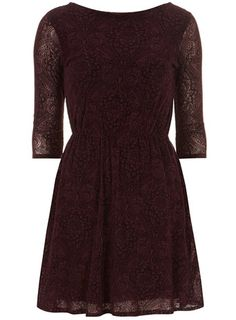 Plum flock gather dress - Pay Day Offers  - Sale & Offers