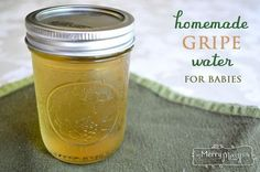 All Natural Homemade Gripe Water for Colic in Babies... need to replace or omit sugar