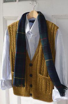 (6) Name: 'Knitting : ML186 Men's Best Vest