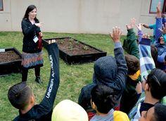 Florence Wilson fourth-graders in Garden City, Kansas create school's first garden