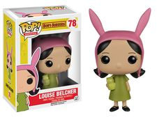 Louise Belcher from Bob's Burgers is now available in Funko Pop! This vinyl Funko Pop! stands at inches tall and is a perfert addition to any Bob's Burgers fan! Pop Vinyl Figures, Anime Pop Figures, Bobs Burger Louise, Funko Pop Dolls, Pop Figurine, Funko Figures, Pop Toys, Pop Characters, Pop Collection