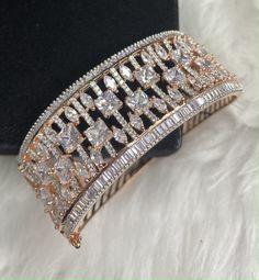 Cuff Bracelets, Bangles, Bridal Necklace Set, Imitation Jewelry, Bracelet Designs, Rose Gold Plates, Indian Jewelry, Costume Jewelry, Size 2