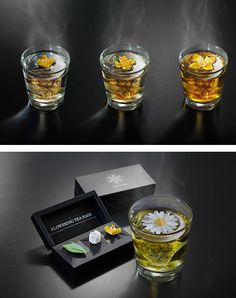 Sachês de chá criativos