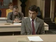 Mr Bean sets an exam for which he doesnt know how to answer a single question.