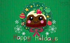 Holiday Cake Luvs U Wallpaper by VampireJaku.deviantart.com on @DeviantArt