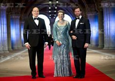 Dutch Royal Dinner at The Rijksmuseum, Amsterdam, Netherlands - 29 Apr 2013 Prince Albert II of Monaco with Hereditary Grand Duke Guillaume and Grand Duchess Stephanie of Luxembourg 29 Apr 2013