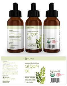 Argan Oil Label Template http://www.dlayouts.com/template/1043/argan-oil-label-template