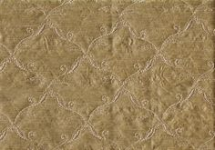 2.50 Yd Robert Allen Fabric Elegant Ogee Pecan Embroidered Drapery Upholstery | eBay