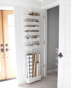 Container Store Elfa Over the Door System like the ribbon storage Understairs Storage Container Door Elfa ribbon storage store System Wrapping Paper Storage, Ribbon Storage, Closet Storage, Locker Storage, Bathroom Storage, Pantry Closet, Under Stairs Cupboard Storage, Storage Under Stairs, Under Stairs Pantry Ideas