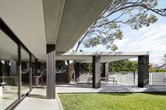 square concrete column decor - Google Search